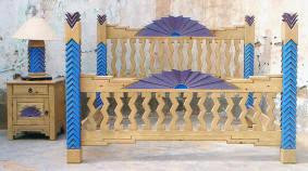 Southwest Bedroom Furniture Navajo Custom Southwest Style Bedroom Set