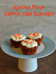 almond flour carrot cake cupcakes with greek yogurt frosting