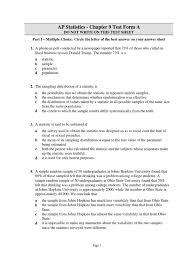 ap stats chapter 9b test standard deviation statistics