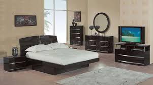 wenge high gloss finish modern bedroom set w storage drawer