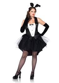 black white 2 pc tux and tails bunny costume amiclubwear costume