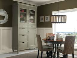 Corner Cabinet Dining Room Hutch Decora Cabinetry U0027s Hutchinson Inset China Cabinet In A Sage Green