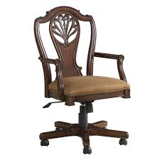 Wood Swivel Desk Chair by Classic Vintage Brown Varnishes Teak Wood Swivel Desk Chair With