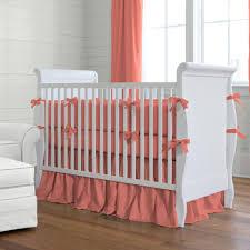 Plain Crib Bedding Solid Coral Crib Bedding Crib Bedding Carousel Designs