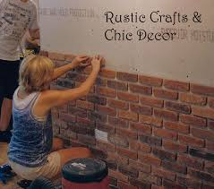 easy way to install a rustic brick veneer wall rustic crafts