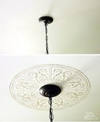 Medallion For Light Fixture Creating A Faux Ceiling Medallion With Cutting Edge Stencils