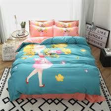 japanese and korean style cartoon design girls bedding sets 3 4pc