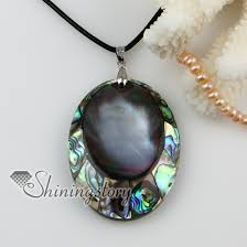 shell pearl necklace wholesale images Oval patchwork sea water rainbow abalone black oyster shell mother jpg
