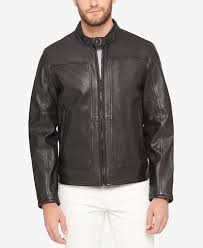 perforated leather motorcycle jacket marc new york men s big tall leather moto jacket coats jackets