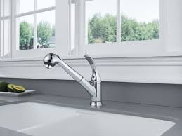 delta foundations single handle deck mounted kitchen faucet