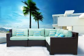 Sectional Patio Furniture Canada - provence outdoor patio wicker sunbrella spectrum mist corner