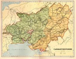 Map Of Wales And England by Carmarthenshire Genealogy Heraldry And Family History