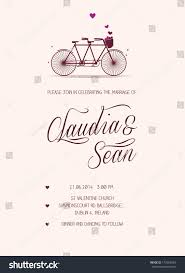 Wedding Announcement Template Tandem Bike Wedding Invitation Template Stock Vector 173686433