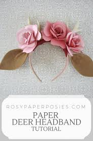 deer headband floral deer headband rosy paper posies