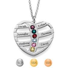 Necklace With Name And Birthstone Infinity 4 Names Necklace With Birthstones