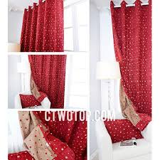 Noble Curtains Best Trendy Noble Beautiful Red Chenille Polka Dot Curtains