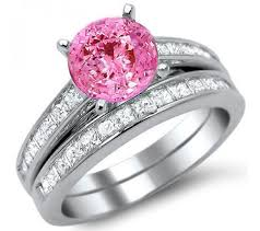 black wedding rings with pink diamonds pink wedding rings for rikof