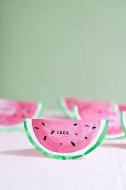 diy place cards watermelon place cards diy