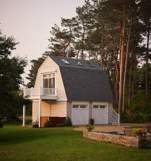 gambrel garage shed traditional with board and batten beige sheds