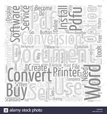 Count Word In Pdf Convert Document To Pdf Text Background Word Cloud Concept Stock