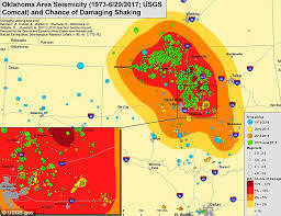 Earthquake map shows swarms of quakes across oklahoma daily mail