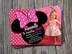 photo invitation cute mickey mouse birthday ideas pinterest