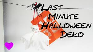 halloween deko selber basteln anleitung diy geist gespenst