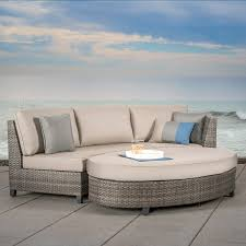 Curved Modular Outdoor Seating by Nautilus 6pc Deep Seating Sectional Mission Hills Furniture