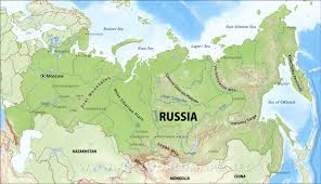 Russian Map Russia Physical Map