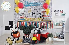 mickey mouse birthday party kara s party ideas vintage mickey mouse themed birthday party