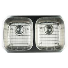 Double Stainless Steel Kitchen Sink by Glacier Bay Undermount Stainless Steel 32 In Double Basin Kitchen