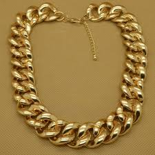 big gold fashion necklace images Fashion gold tone jewelry big plastic chains cool 18 quot necklace exs jpg