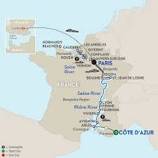French Riviera Map Lyon River Cruises Avalon Waterways