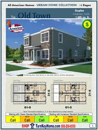 old town duplex all american modular home urban collection plan price modular home all american homes urban home old town duplex plan price more here