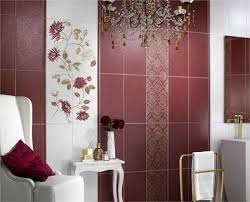 Modern Wall Tiles In Red Colors Creating Stunning Bathroom Design - Bathroom wall tiles designs