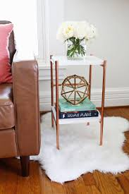 Copper Projects Copper Pipe Side Table Diy U2013 A Beautiful Mess
