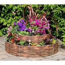 growrings 2 tier 5 panel pack raised flower bed wicker u2013 next
