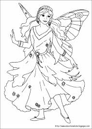 printable 17 fairy princess coloring pages 4046 princess barbie