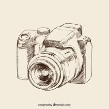 photo camera sketch icons free download