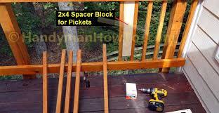 how to build code compliant deck railing part 2