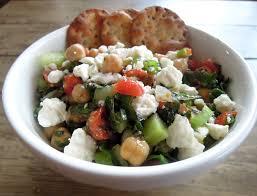mediterranean chickpea salad a balanced life cooks