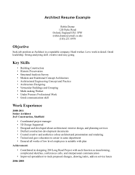 architecture resume examples resume for study