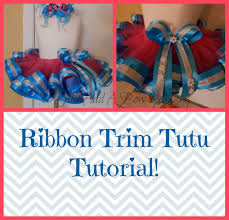 ribbon trim how to make a ribbon trim tutu by just add a bow sewing
