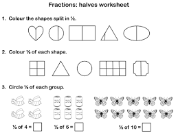 fractions halves animated powerpoint presentation and worksheet