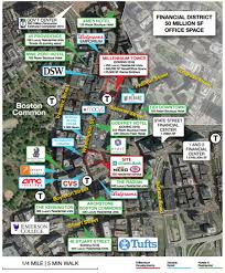 Boston Commons Map by Millennium Place Retail Space Linear Retaillinear Retail