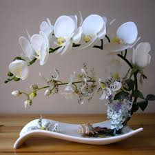 table top flower arrangements simulation phalaenopsis package flower decoration
