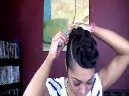 twisted bun hairstyle on african american super natural black hair
