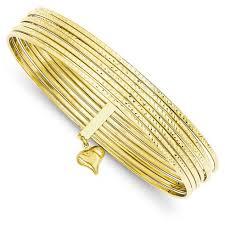 gold bangle bracelet set images 14kt yellow gold 7 days bangle bracelet set db534 joy jewelers jpg