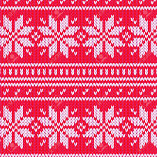scandinavian sweater seamless pattern in red royalty free cliparts
