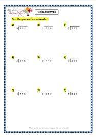 grade 3 maths worksheets division 64 long division with remainder